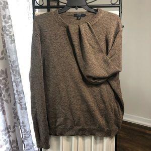 NWOT JCREW Wool Sweater Brown XL